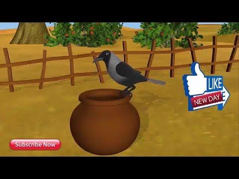 Ek Kauwa Pyaasa tha Poem - 3D Animation Hindi Nursery Rhymes for Children with Lyrics and song