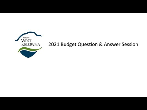 Virtual 2021 Budget Consultation - Question and Answer Session