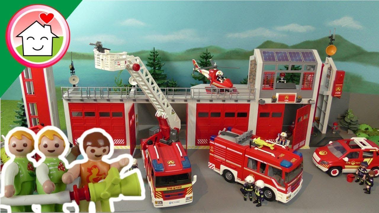 الحضانة في زيارة إلى قسم الإطفاء - عائلة عمر - جنه ورؤى