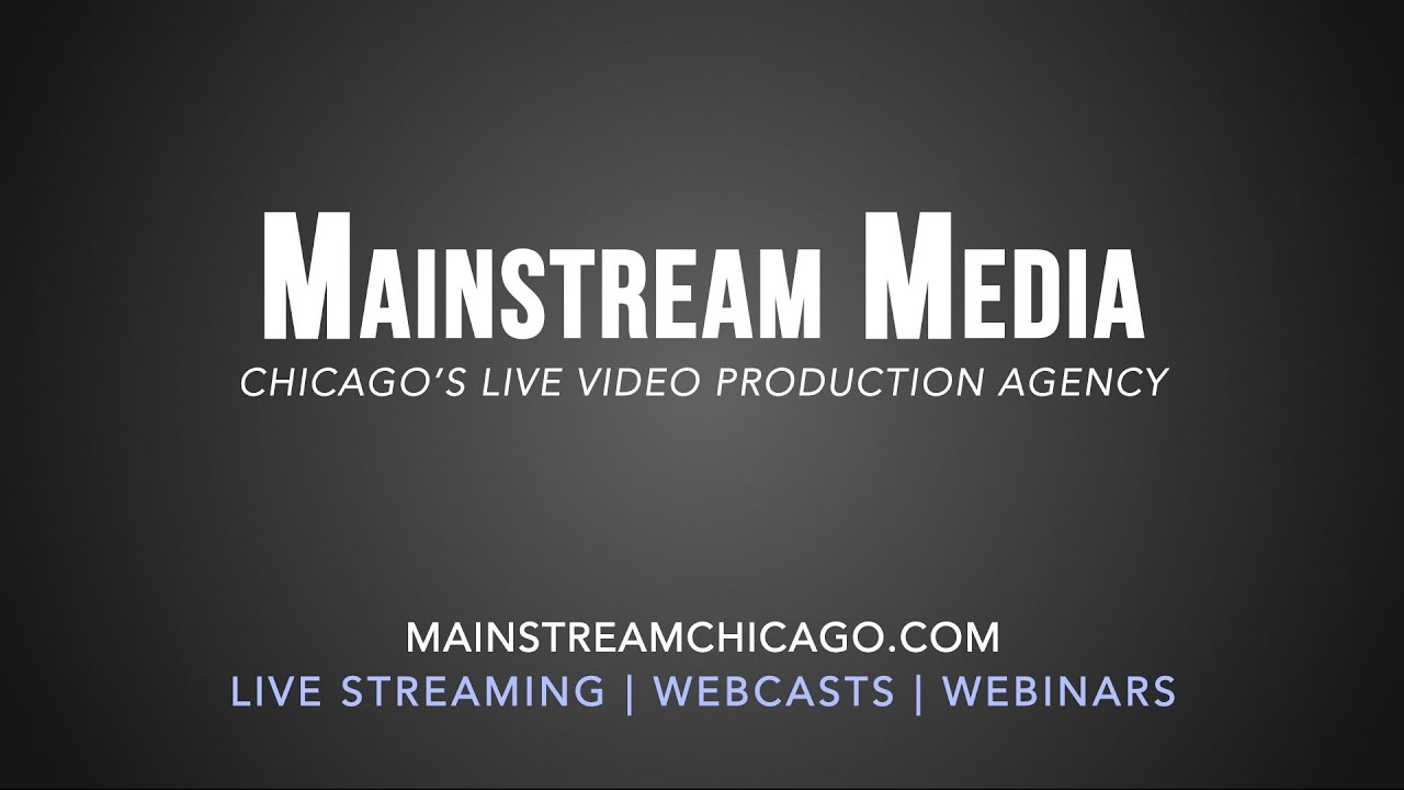 Live Stream Production Reel - 2014 - Mainstream Media ...