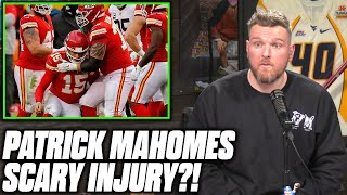 Pat McAfee Reacts To Patrick Mahomes Apparent Concussion vs Browns