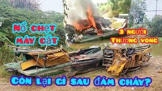 long an_nguyên nhân vụ nổ chẹt máy cắt lúa khi đang di chuyển khiến 3 người thương vong