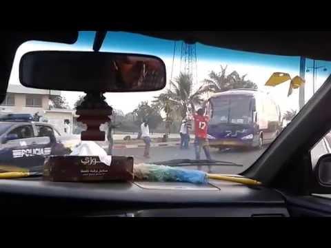 Ghana team bus arrives in Malabo