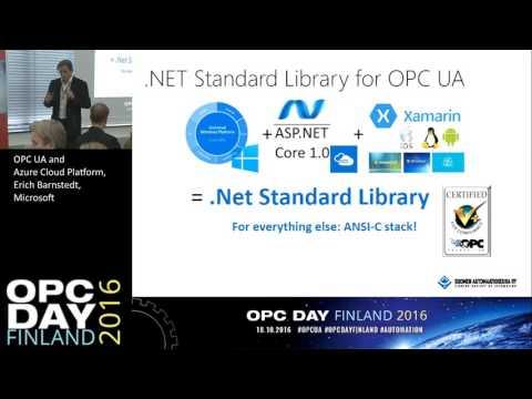 OPC UA and Azure Cloud Platform, Erich Barnstedt, Microsoft
