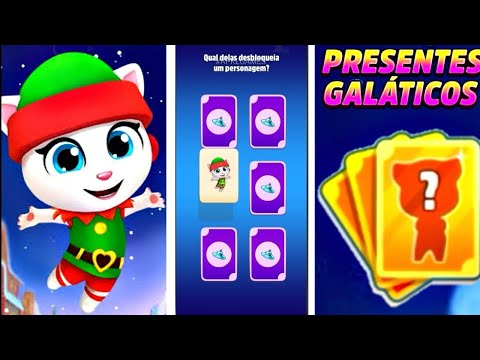 talking-tom-gold-run-novo-evento-presentes-galÁcticos-cartas-da-sorte-x5-desbloqueado-angela-duende