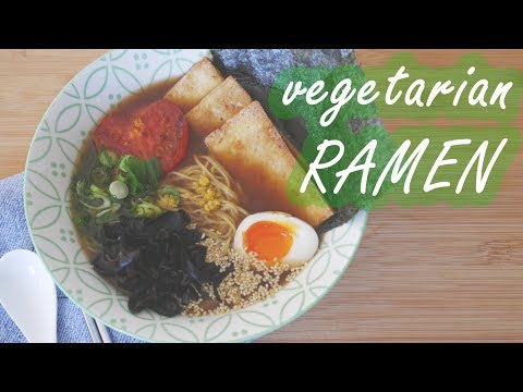 How to make 🍜VEGETARIAN RAMEN🍜  – secret ingredient at the end 😎