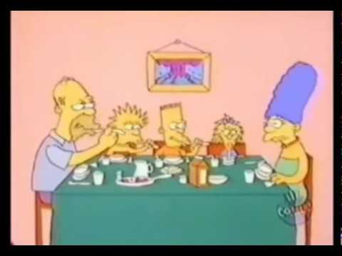 The Simpsons Shorts- Eating Dinner & Skateboarding