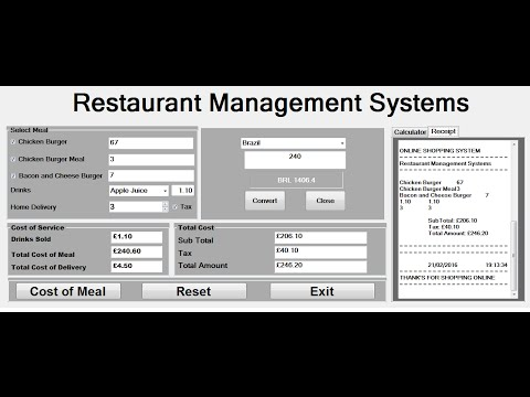How to Create Restaurant Management Systems in Visual Basic.Net