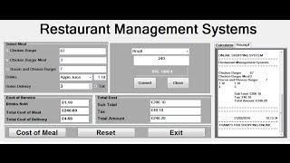 Creating restaurant management systems in visual basic.net, with currency converter, calculator, receipt and using for loop, functions, if statement nest...