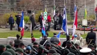 Jour du Souvenir Cérémonie-Remembrance Day Ceremony. Québec City.Can.2016