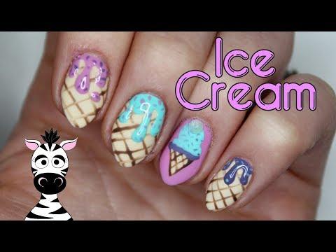 Dripping Ice Cream Nail Art Tutorial | Madam Glam thumbnail