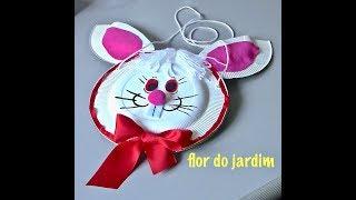 Sacolinha de coelho da páscoa Passo a Passo -Easter Bunny