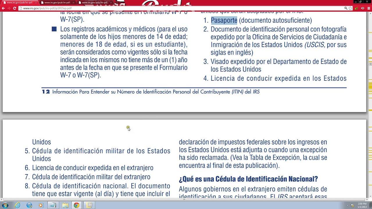Como solicitar un nmero itin gratis form w 7sp youtube como solicitar un nmero itin gratis form w 7sp falaconquin