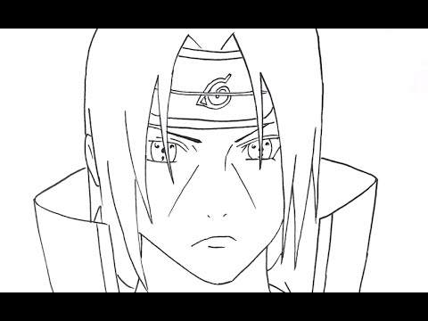 how to draw uchiha itachi part 1 step by step tutorial