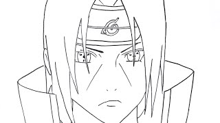 HOW TO DRAW UCHIHA ITACHI PART 1 (Step By Step Tutorial)