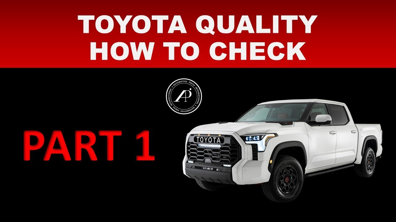 HOW TO DETERMINE IF VEHICLE IS WELL BUILT - USE THIS TECHNIQUE TO FIGURE OUT QUALITY OF 2022 TUNDRA
