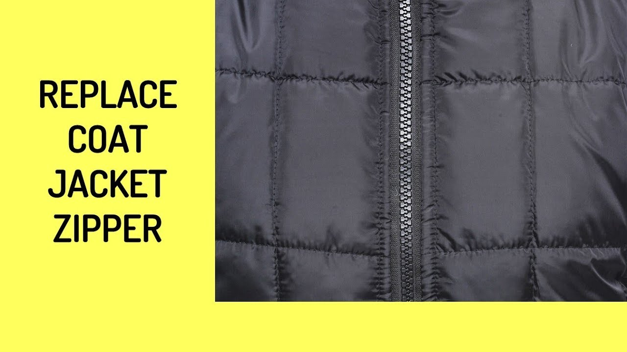 How To Replace A Winter Jacket Zipper Trailer Youtube