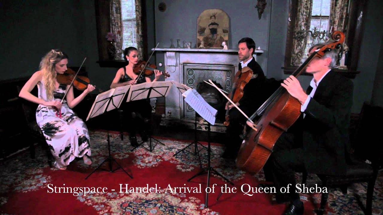 Queen of Sheba - Handel - Stringspace String Quartet - YouTube