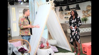 How to DIY the perfect curtain tent for glamping