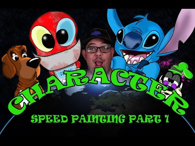 Speed painting a Disney Character  Part 1