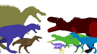 Dinosaurs Cartoons. Dinosaurs Battles Compilation part 7 DinoMania. Динозавры Мультфильм