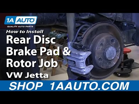 How to Replace Rear Brakes 99-05 Volkswagen Jetta