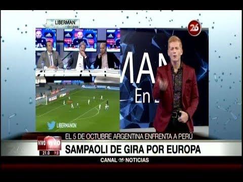"Liberman sobre la gira de Sampaoli en Europa para Perú lo destroza: ""Demagogo tribunero"""