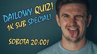 Dailowy QUIZ - 2 EDYCJA! - GRY, KSIĄŻKI, FANTASY! -  SPECIAL NA 1000 SUBÓW -  #live #konkurs #quiz