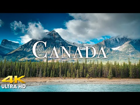 FLYING OVER CANADA (4K UHD) Amazing Beautiful Nature Scenery with Relaxing Music | 4K VIDEO ULTRA HD