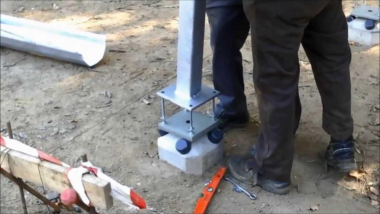 Instalación de PILOEDRE como cimentación de pilar de estructura ...