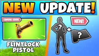 Fortnite FLINTLOCK PISTOL DETAILS + New Laguna Skin! - 5 Update Things in Battle Royale!