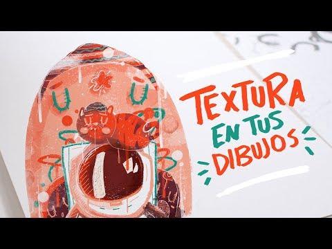Colocar texturas para tus dibujos en Illustrator y Photoshop-Andreaga