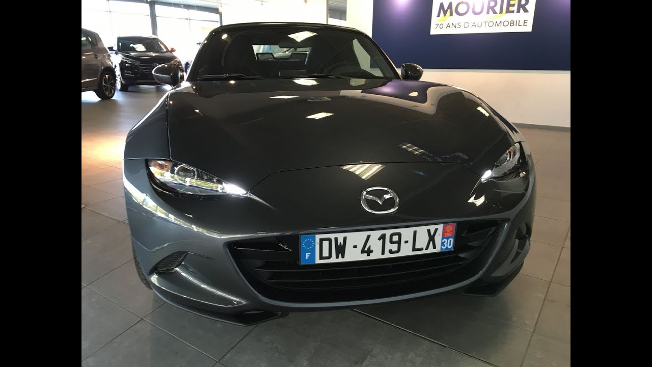 mazda mx5 1 5 l 131cv finition elegance meteor grey youtube. Black Bedroom Furniture Sets. Home Design Ideas