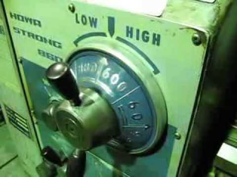 豊和産業 6尺旋盤 ST-860 試運転動画
