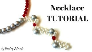 Beaded Necklace. Necklace Tutorial. How to make an elegant necklace