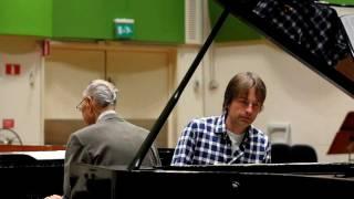 Bengt Hallberg och Jan Lundgren spelar dubbelpiano till en ny cd