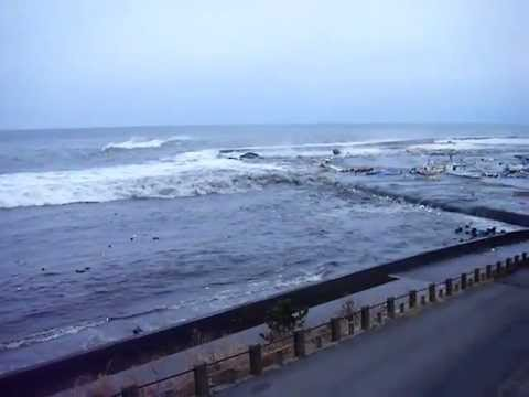 Tsunami at Taneichi port, Iwate Prefecture