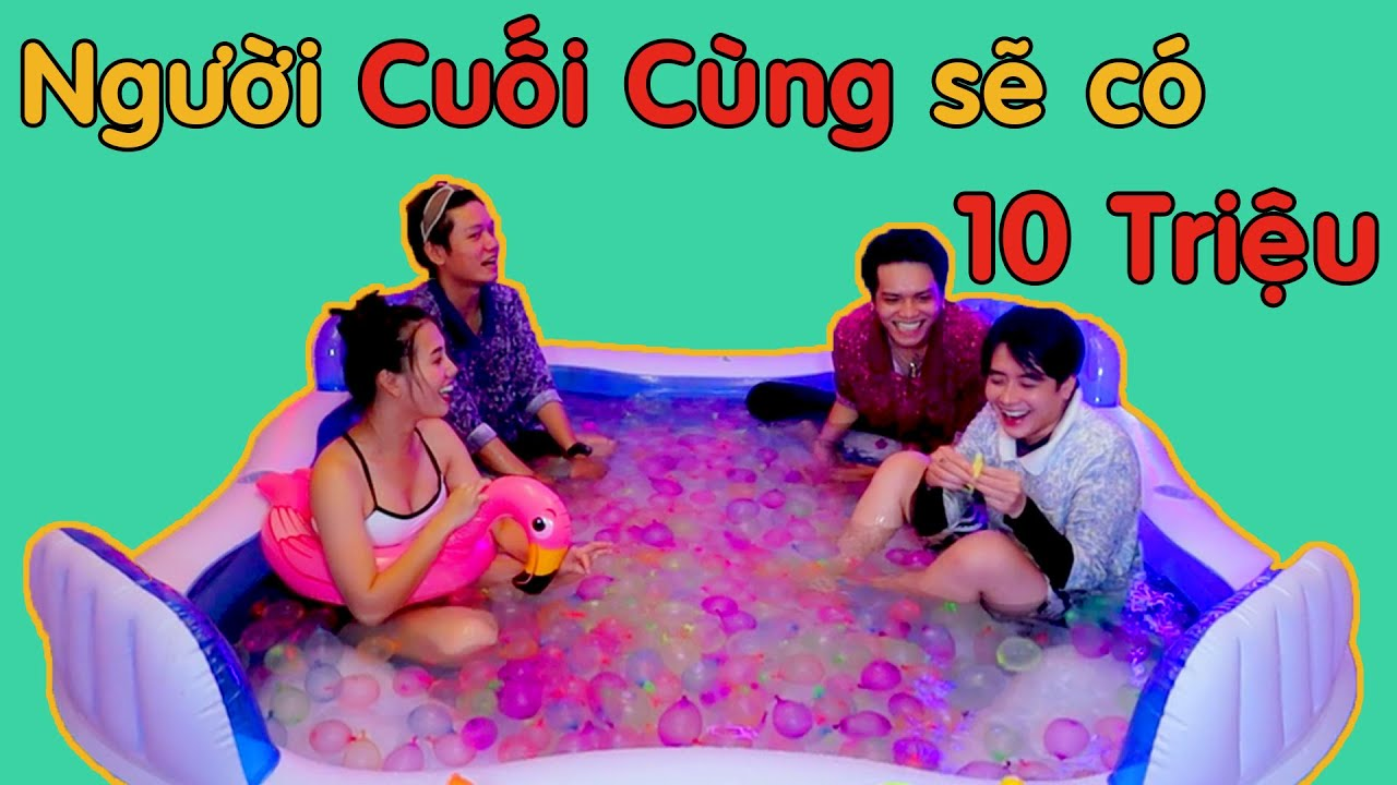 Người Cuối Cùng Rời Khỏi Hồ Bơi BONG BÓNG sẽ thắng 10 Triệu | Couple K | Khánh Vũ ft Nhi Katy