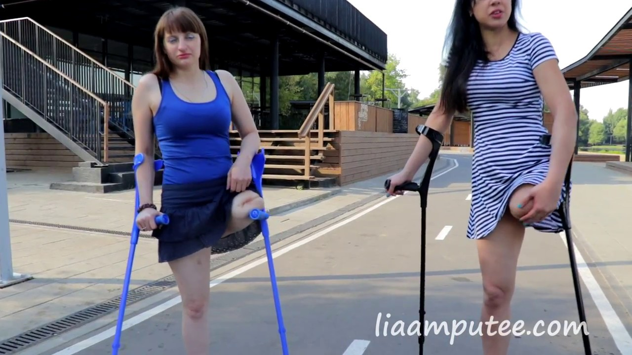 pretty amputees girls on crutches - YouTube