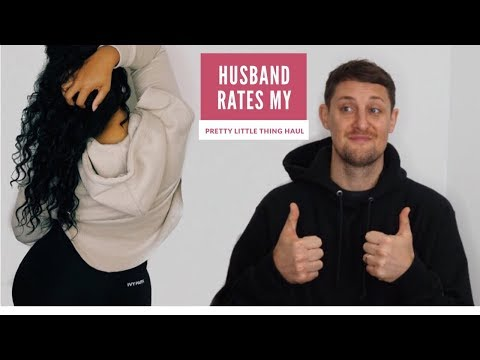 HUSBAND RATES MY PRETTY LITTLE THING CLOTHING HAUL | Curly Monroe
