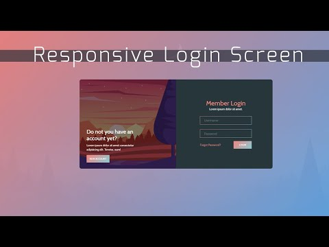 Sweet Login Screen | HTML, Bootstrap How To Create