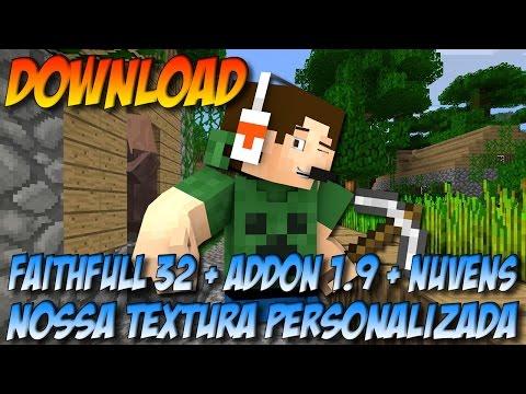 Minecraft 1.9 - DOWNLOAD da nossa textura personalizada (Faithfull + ADDon + Nuvens +  Modificações)