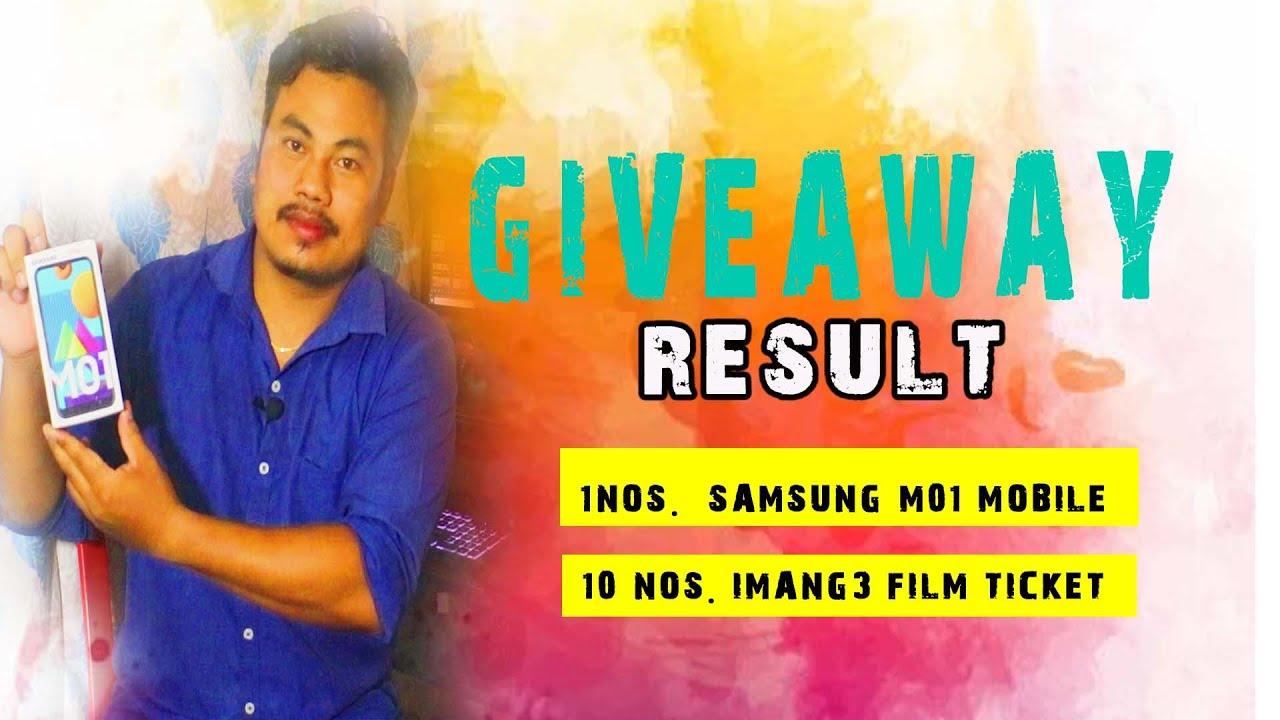 GIVEAWAY RESULT    SAMSUNG M01   10 NOS. IMANG-3 FILM TICKET    SHINE FILM PRODUCTION