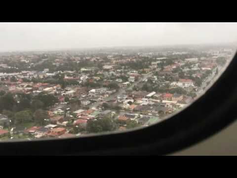Very Rocky Approach and Landing at Sydney Airport Runway 07 in an ATR72-600