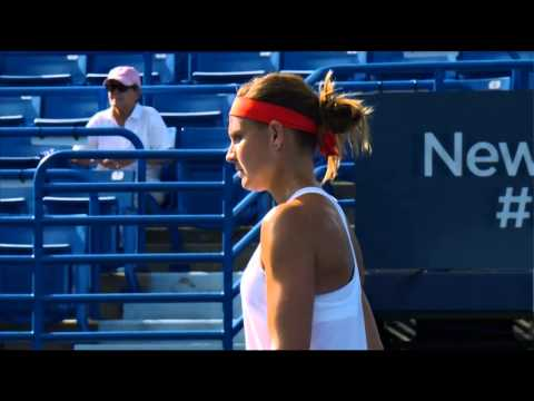 2015 Connecticut Open Quarterfinals | Lucie Safarova vs Dominika Cibulkova | WTA Highlights