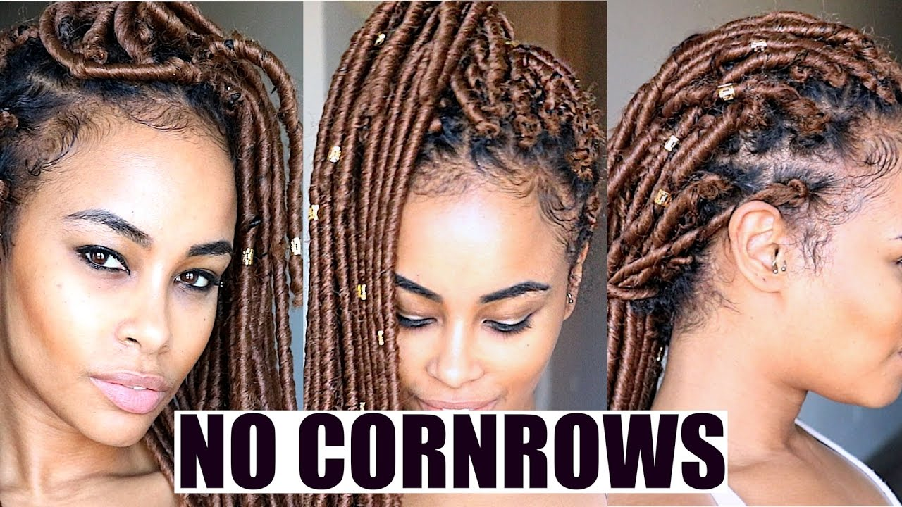 crochet hair style crochet faux locs no cornrows no wrapping 1449