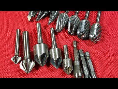 Carbide Rotary Files (Burrs) & Chamfering Bits Comparison & Introduction