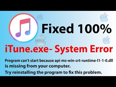 ITune Exe  System Error,api Ms Win Crt Runtime L1 1 0 Dll