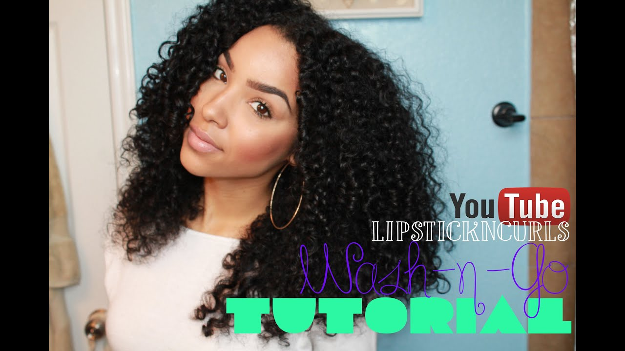 How To Style Naturally Curly Hair Wash N Go Routine