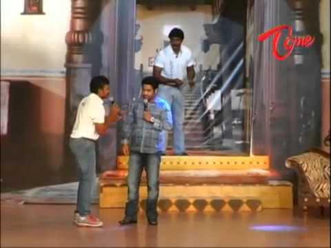 Jr NTR Prabhas SS Raja Mouli Funny Scene in Maryada Ramanna Audio Release